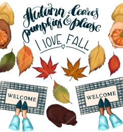 falling into fall clipart amp patterns  [ 1160 x 772 Pixel ]