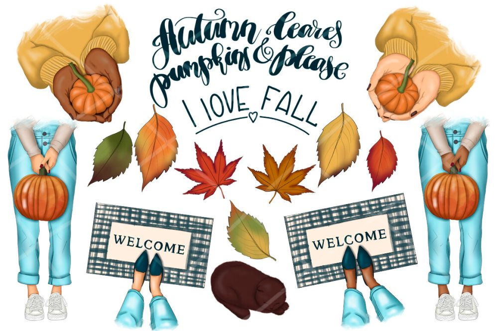 medium resolution of  falling into fall clipart amp patterns
