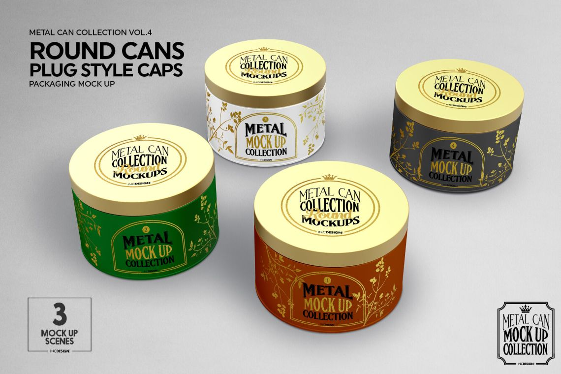 Download Cans Paper Package Mockup Front View Yellowimages