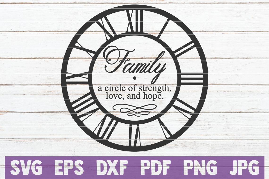 Download Family A Circle Of Strength, Love, And Hope SVG Cut File ...
