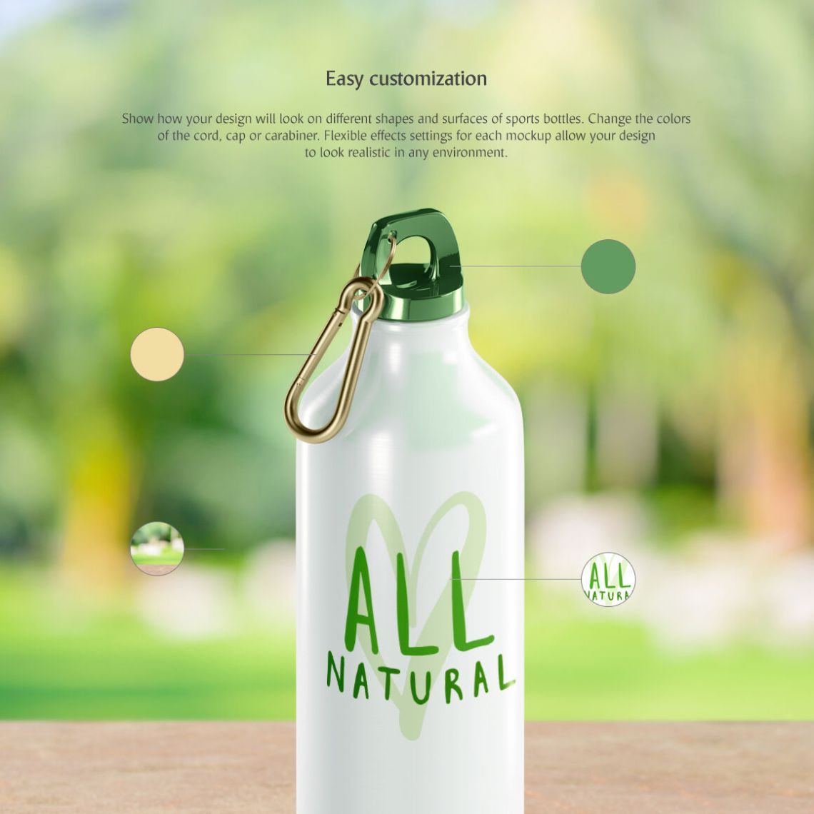 Download Glossy Plastic Bottle Label Mockup Yellow Images