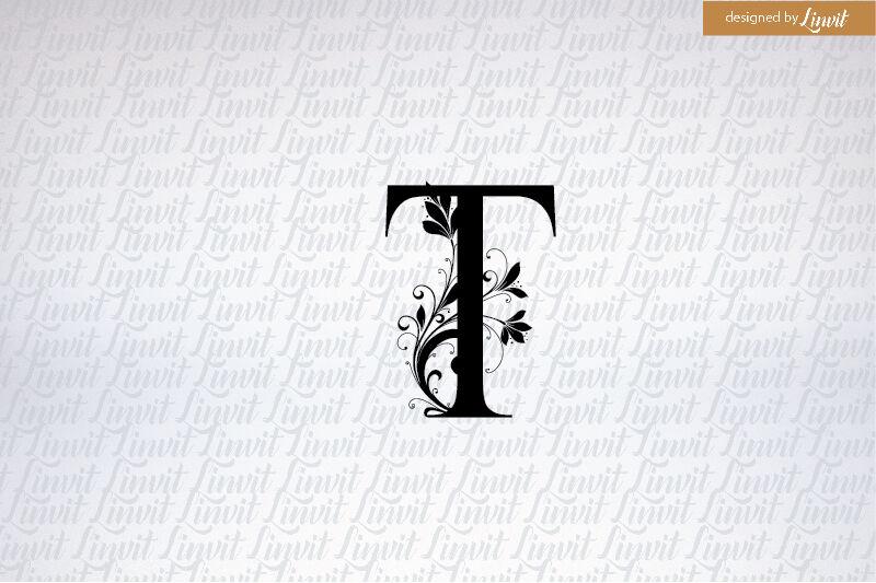 T logo, t initial, monogram t, t wedding monogram, letter