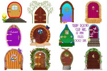 Fairy Doors Clip Art By Me and Ameliè TheHungryJPEG com