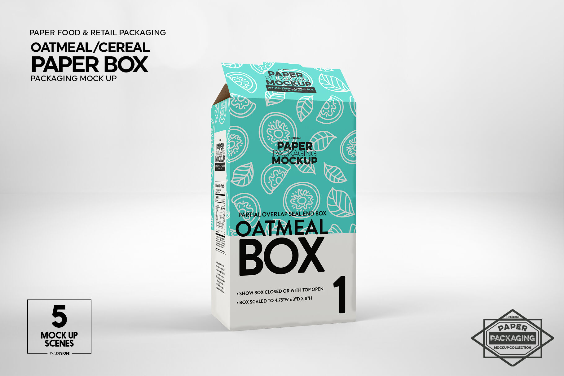 We have a huge range of mockups products available. Paper Oatmeal Cereal Box Packaging Mockup By Inc Design Studio Thehungryjpeg Com