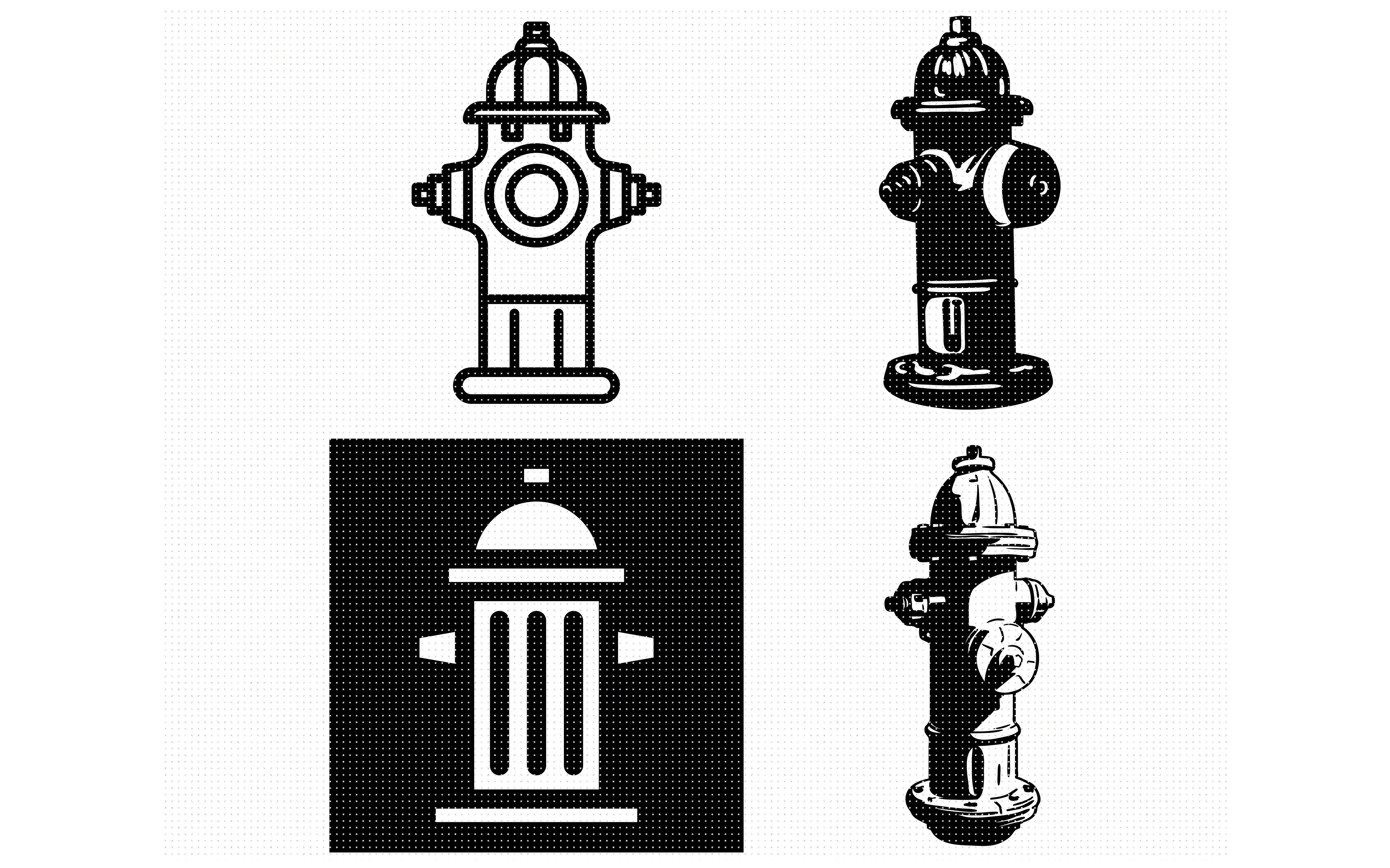 fire hydrant svg, dxf, png, eps, cricut, silhouette, cut