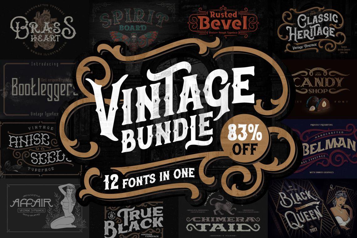 Download Vintage Fonts Bundle. 83% OFF! By Gleb & Natasha Guralnyk ...