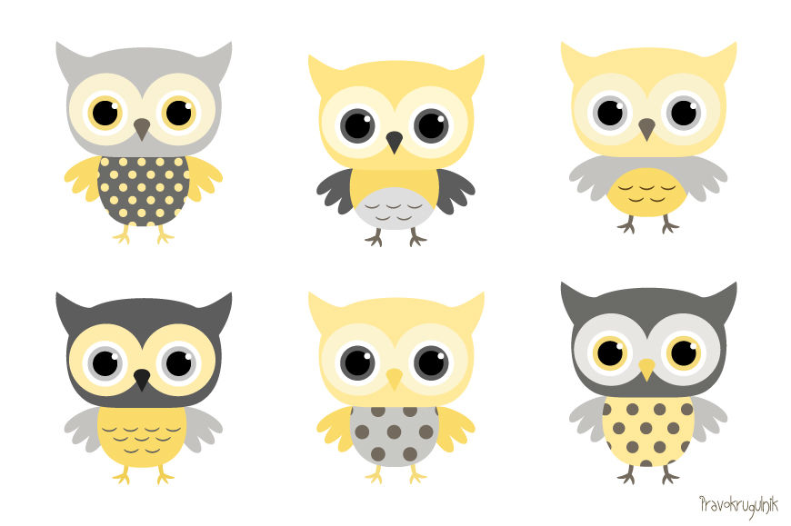 Shower Grey Baby Owl Yellow And