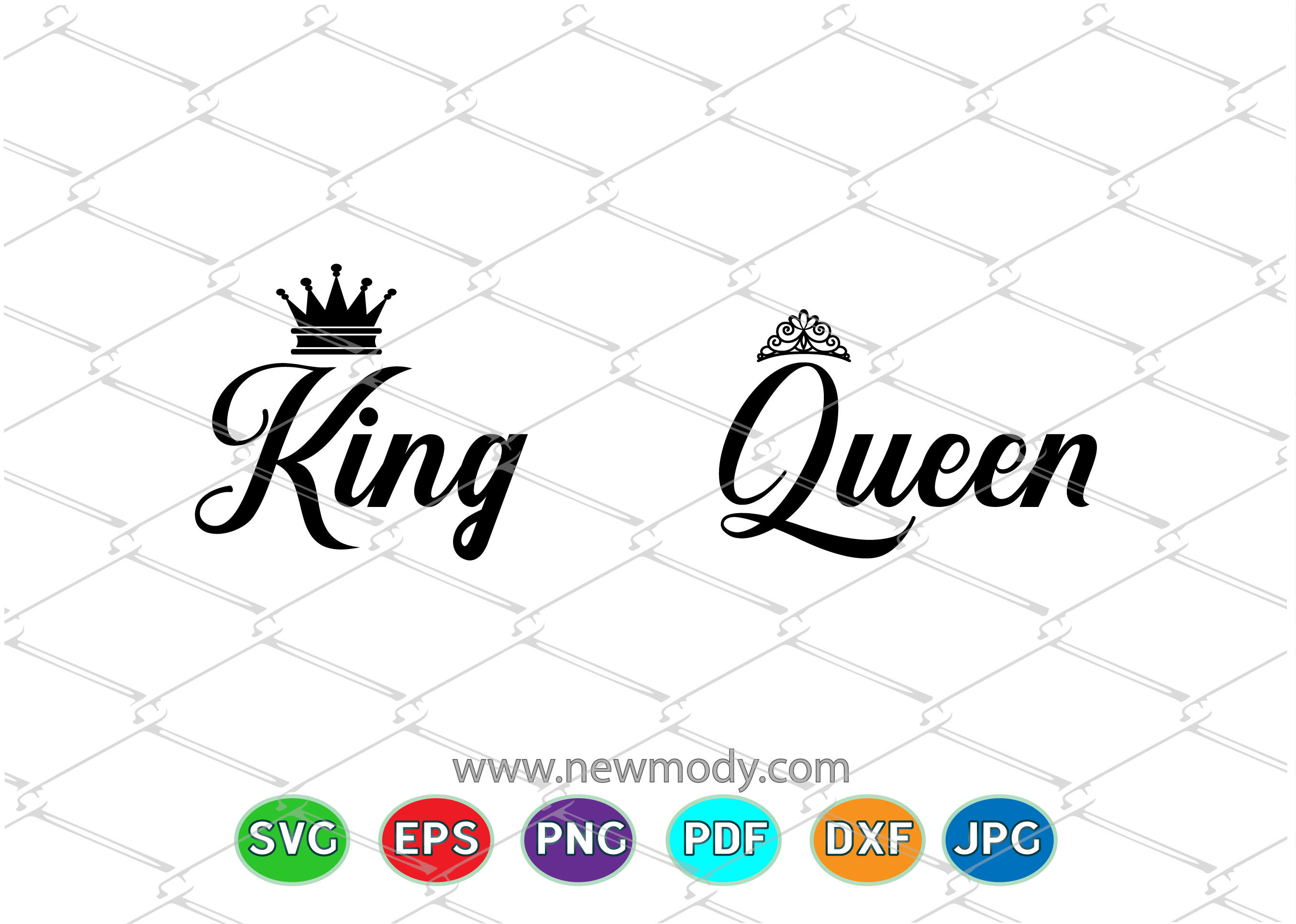 King And Queen Svg Cut Files King Svg Queen Svg By Amittaart Thehungryjpeg Com
