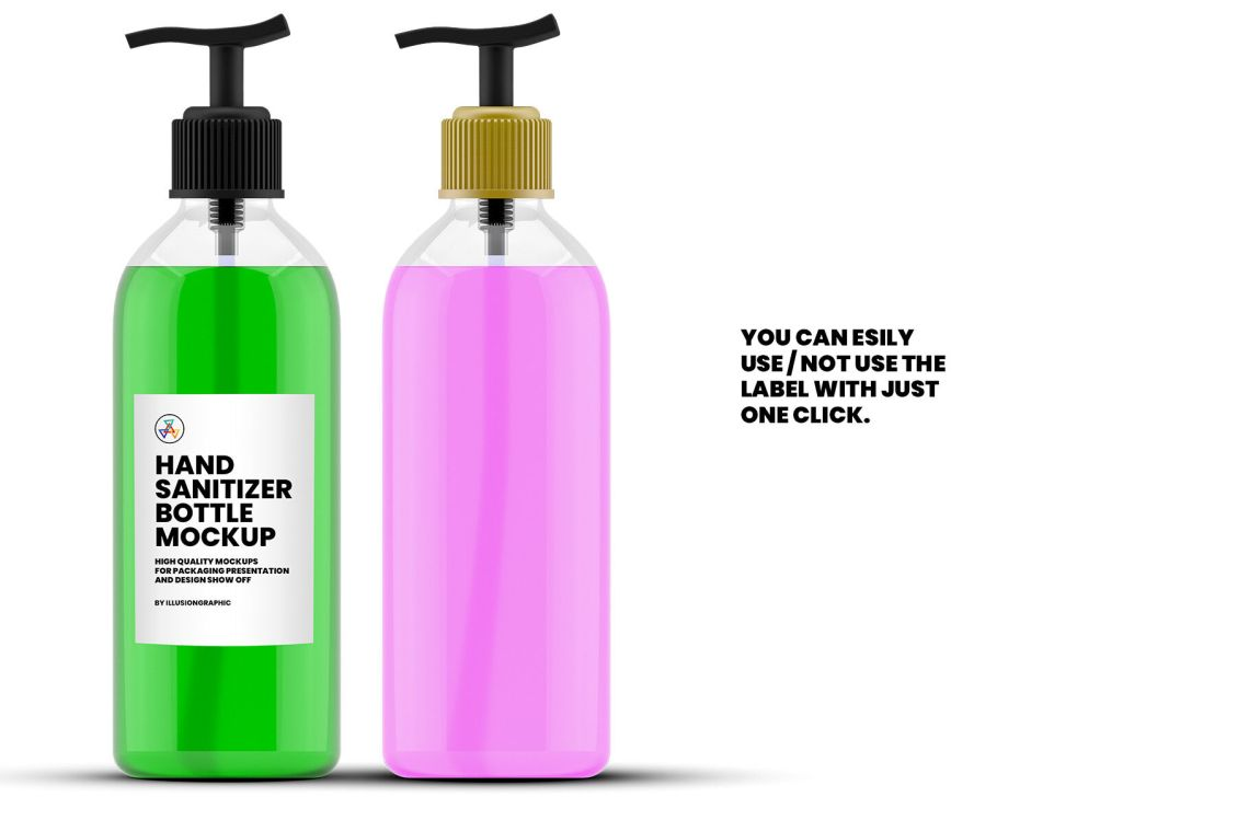Download Clear Plastic Lotion Bottle Mockup Yellowimages