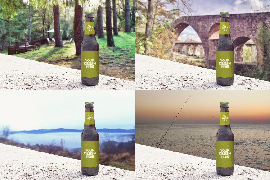 Download Amber Liquor Bottle Mockup Yellowimages