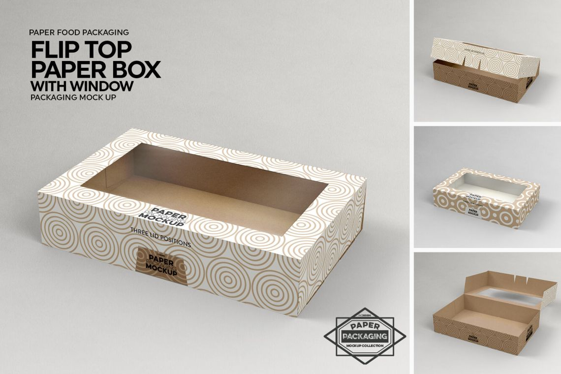 Download Box With Window Mockup Front Back Views Yellowimages