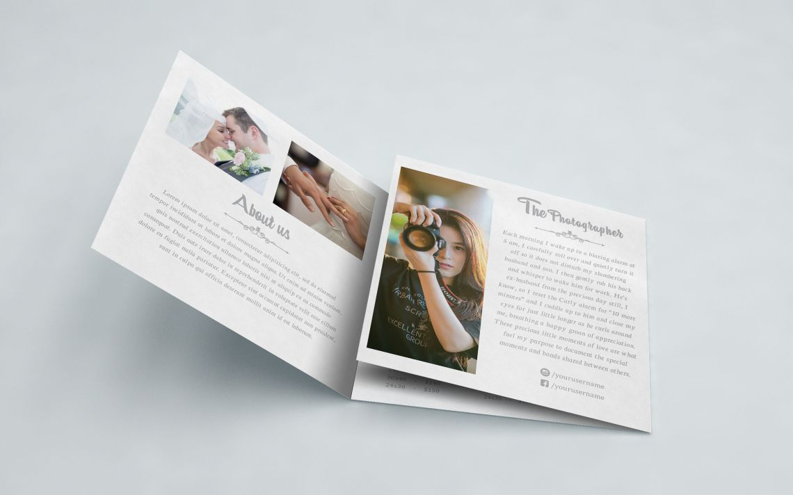 Download Accordion Brochure Mockup Psd Yellow Images