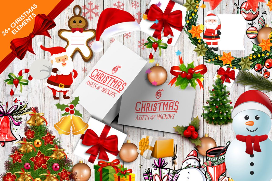 Download Free Psd Christmas Mockup Yellowimages