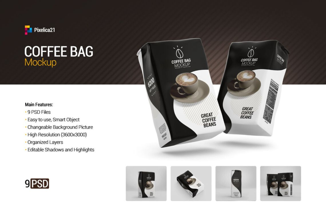 Download Food Bag With Black Pepper Mockup Yellowimages