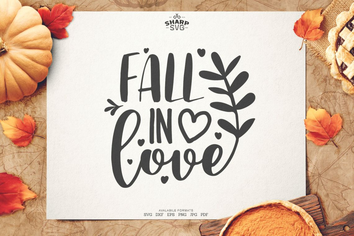 Download Fall in Love SVG| Autumn SVG Files By SharpSVG ...