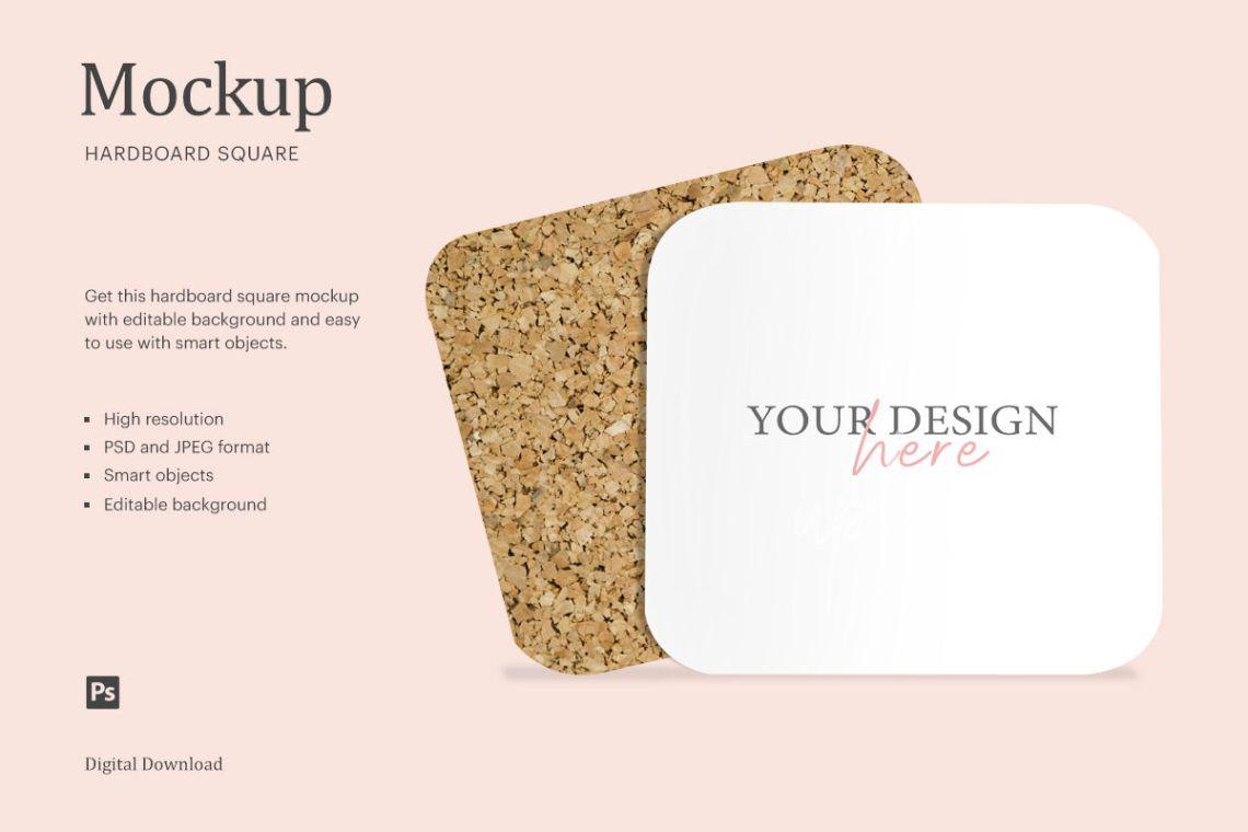 Download Coaster Mockup Free Yellow Images