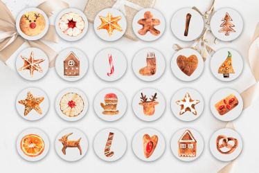 Christmas Instagram Highlight Covers Ginger Cookies