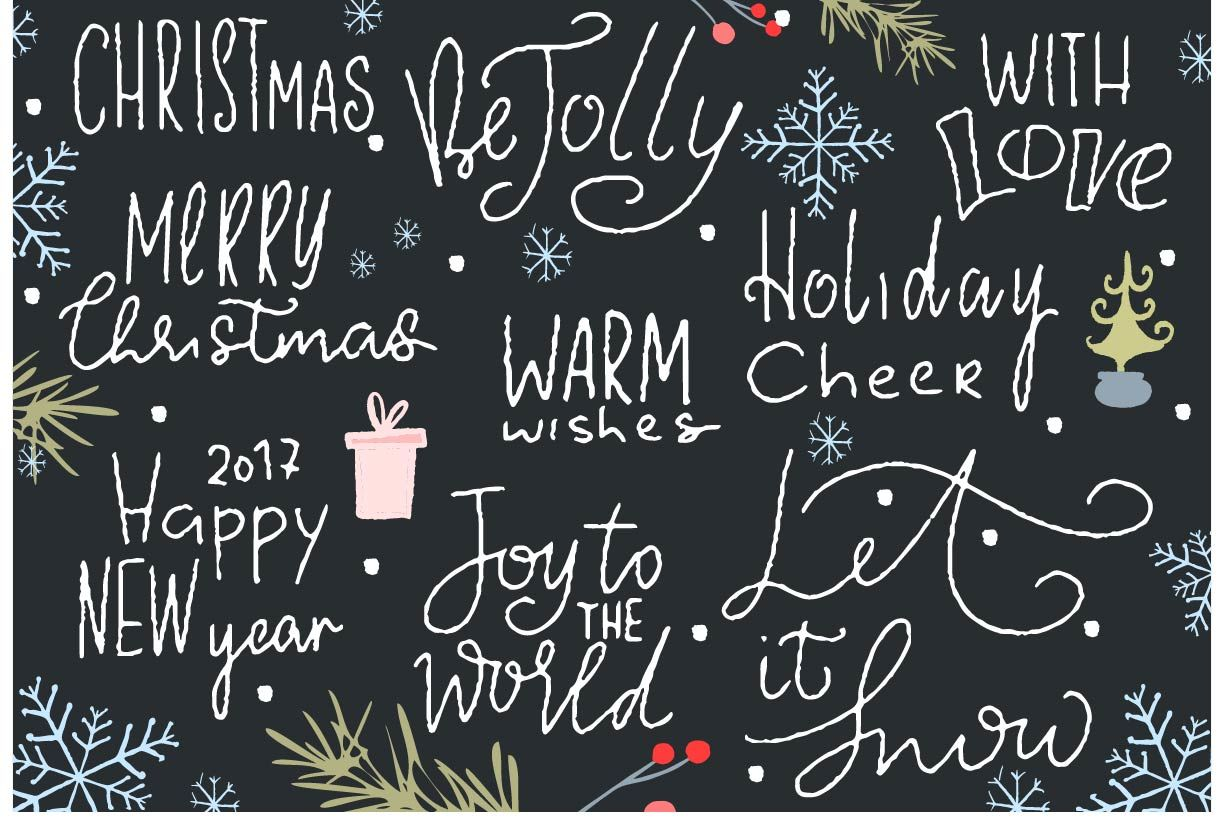 hand lettering christmas phrases
