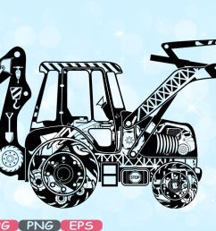digger excavator silhouette svg file cutting files stickers builders work school construction site clipart building machine bulldozer 562s by hamhamart  [ 1160 x 772 Pixel ]