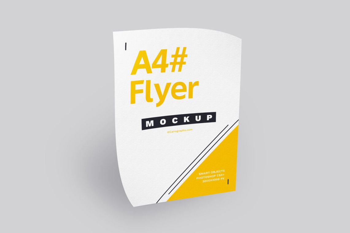 Download Poster Mockup Psd Free Yellow Images