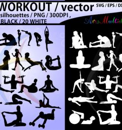 workout workout silhouette workout clipart vector  [ 1160 x 772 Pixel ]