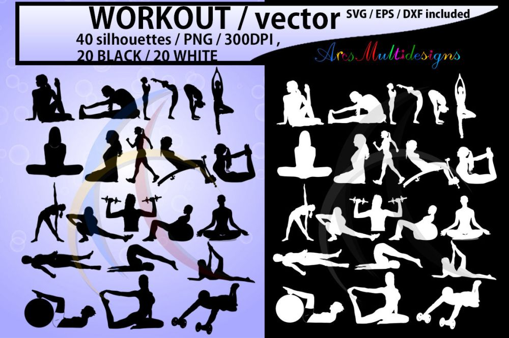 medium resolution of workout workout silhouette workout clipart vector