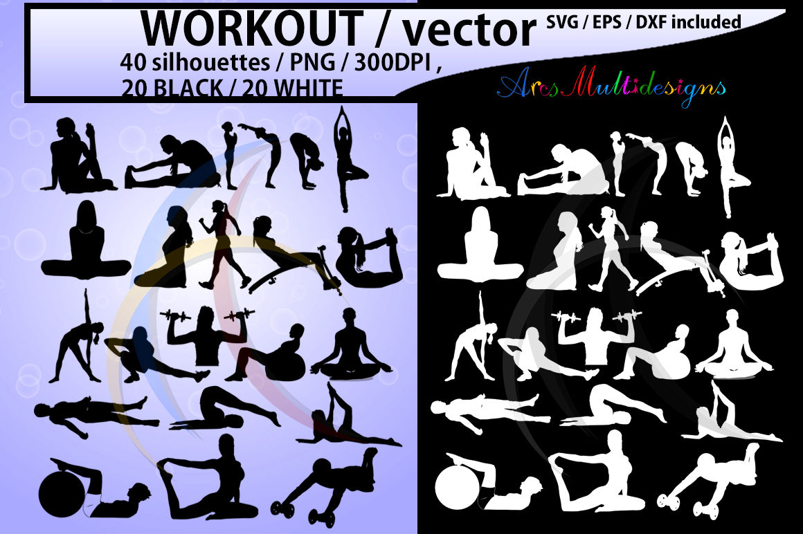 hight resolution of workout workout silhouette workout clipart vector