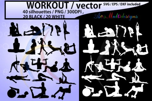 small resolution of workout workout silhouette workout clipart vector