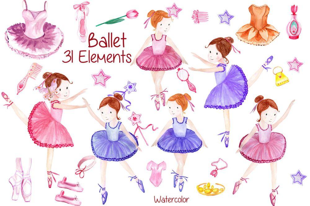 medium resolution of watercolor ballerina clipart