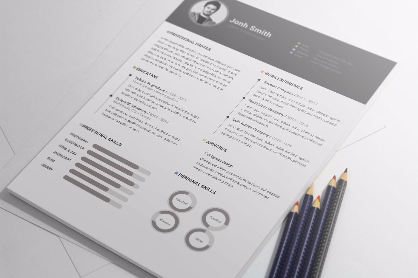 Resume Templates For Office Office Simple Cv Resume Template Cover Letter Template By