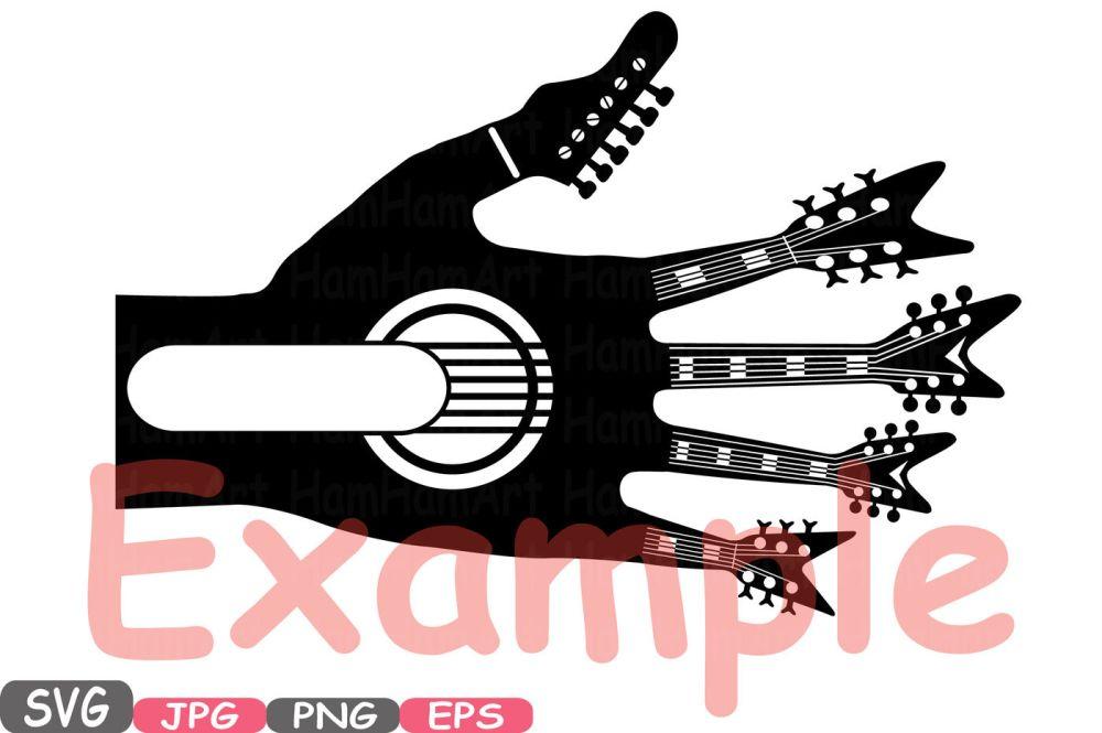 medium resolution of  split rock n roll music cutting files svg
