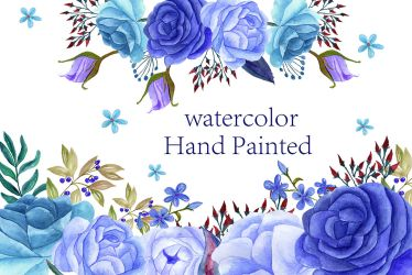 watercolor flowers clip thehungryjpeg cart chilipapers