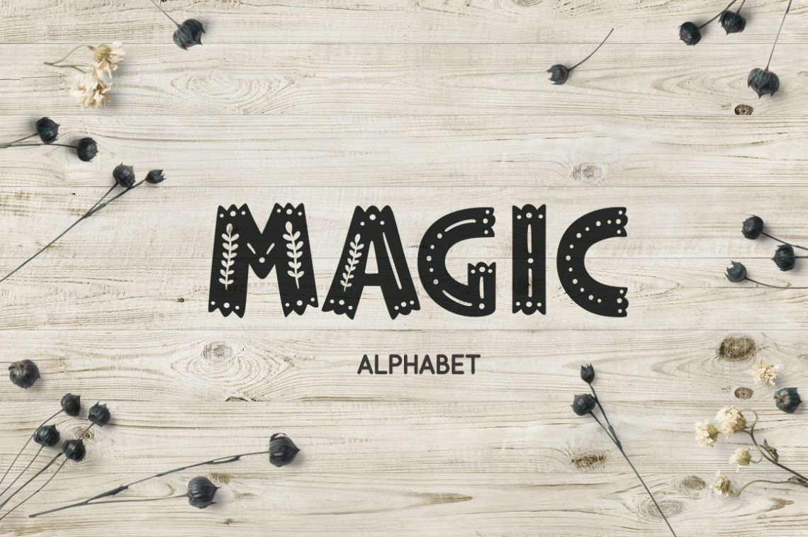 Download Magic alphabet By Magic & Dreams | TheHungryJPEG.com