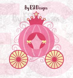 princess carriage svg dxf eps and png cutting  [ 1400 x 933 Pixel ]