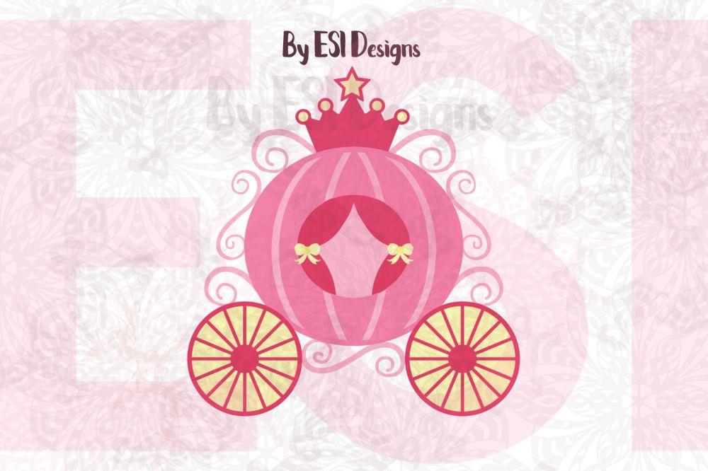 medium resolution of princess carriage svg dxf eps and png cutting
