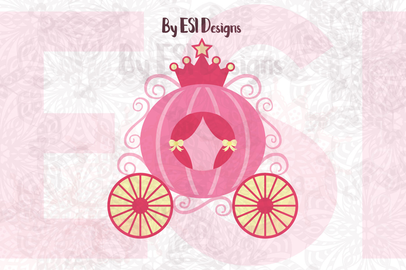 hight resolution of princess carriage svg dxf eps and png cutting