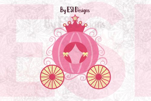 small resolution of princess carriage svg dxf eps and png cutting