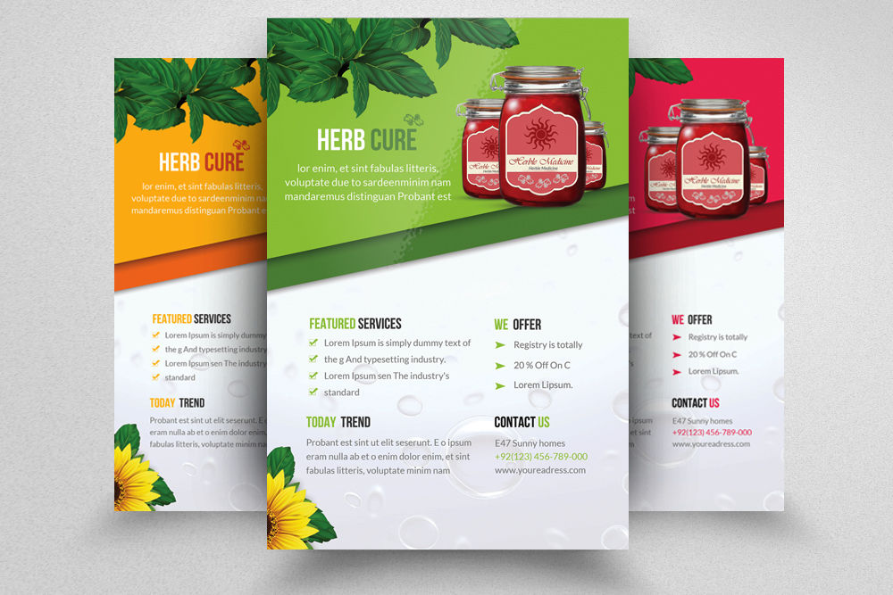 herbal product promotion flyers