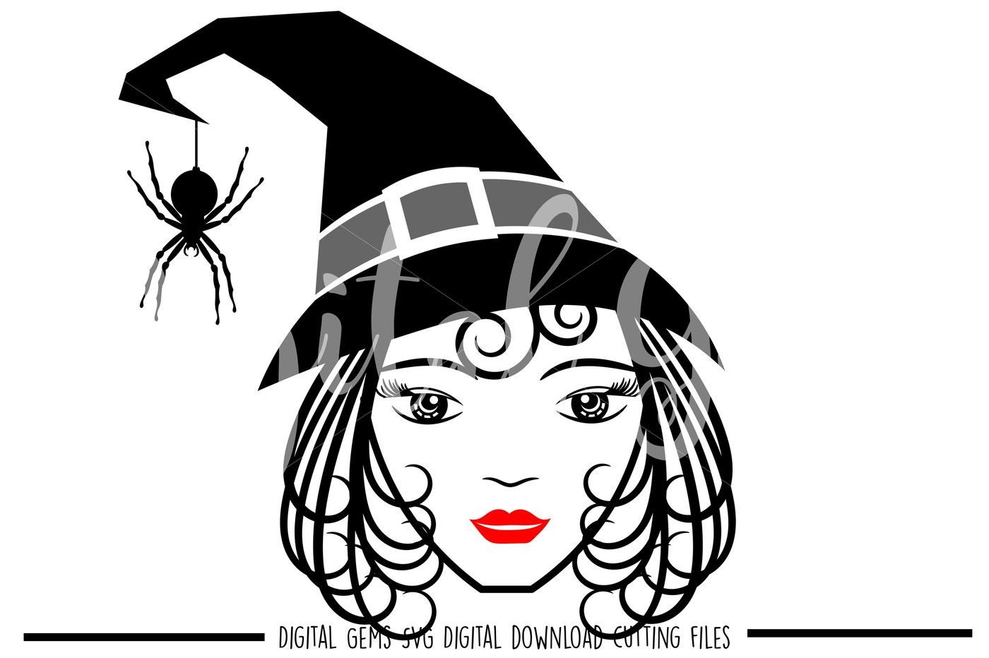 Witch SVG / DXF / EPS / PNG Files By Digital Gems