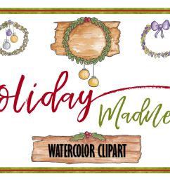 holiday clipart christmas clipart object clipart watercolor clipart banner clipart planner clipart wreath clipart christmas banner ornaments [ 1160 x 772 Pixel ]