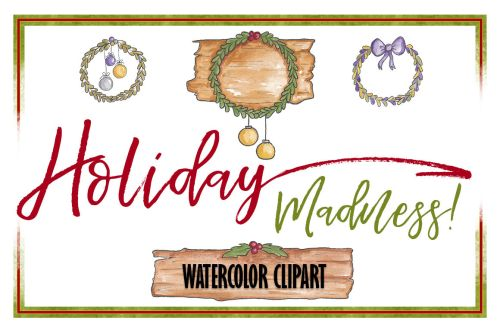 small resolution of holiday clipart christmas clipart object clipart watercolor clipart banner clipart planner clipart wreath clipart christmas banner ornaments