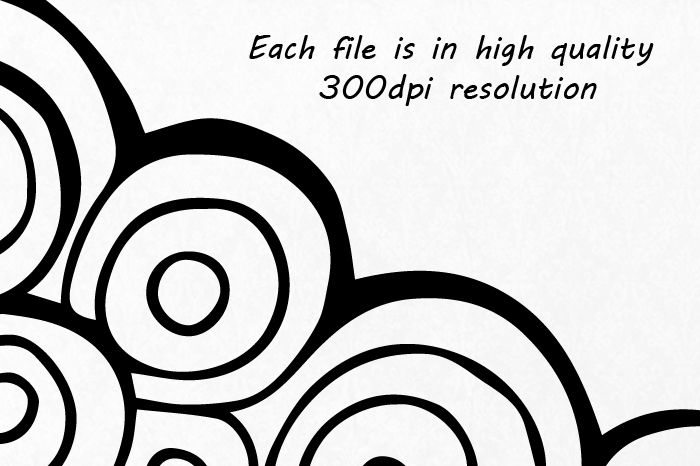 Doodle Nature Clipart, Hand Drawn Mountain Clipart, Clouds