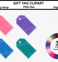 gift tag clipart 36 multi colours png files  [ 1400 x 930 Pixel ]