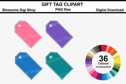 small resolution of gift tag clipart 36 multi colours png files