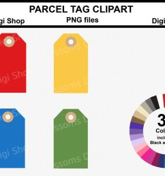 parcel tag clipart 36 multi colours png files  [ 1400 x 930 Pixel ]