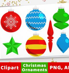40 christmas ornaments clipart holiday clipart christmas card  [ 1160 x 772 Pixel ]