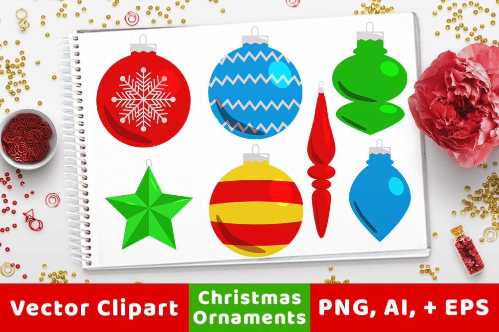 medium resolution of 40 christmas ornaments clipart holiday clipart christmas card