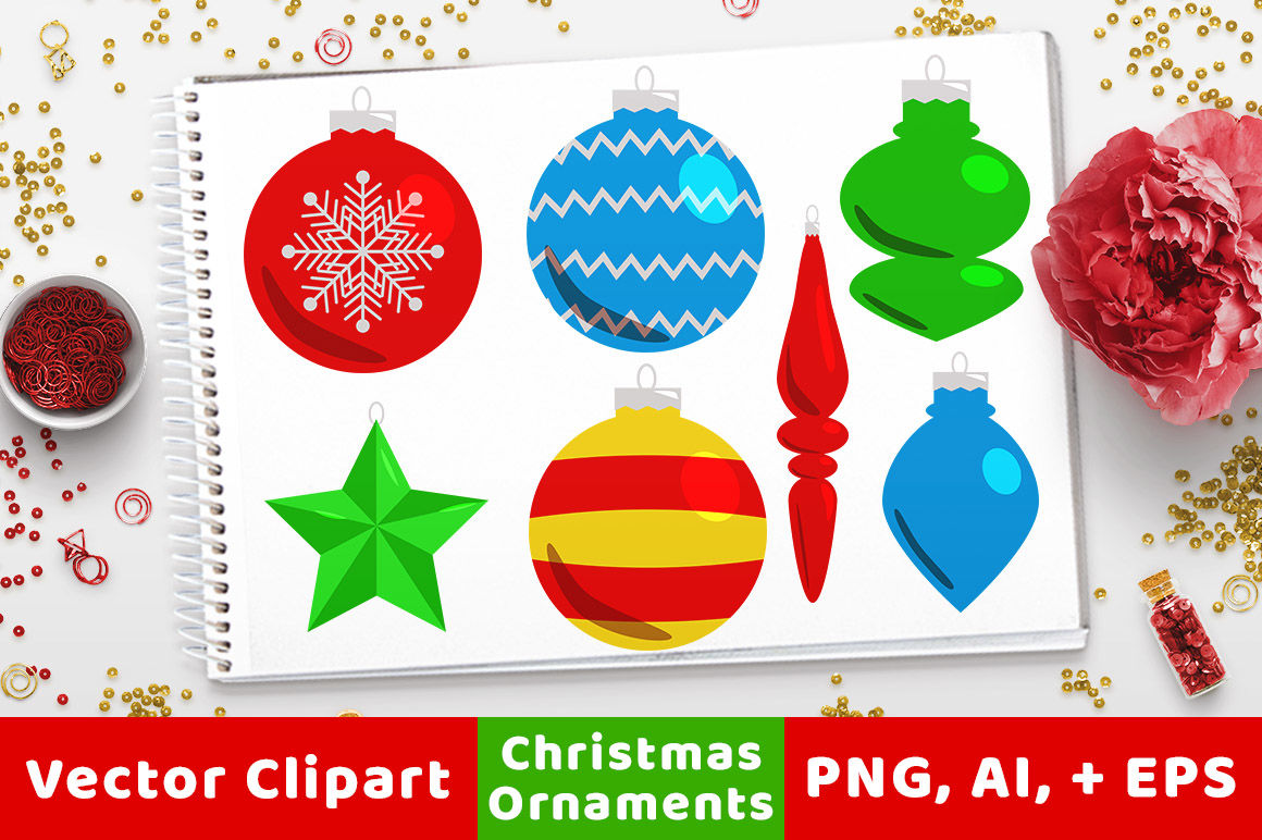 hight resolution of 40 christmas ornaments clipart holiday clipart christmas card