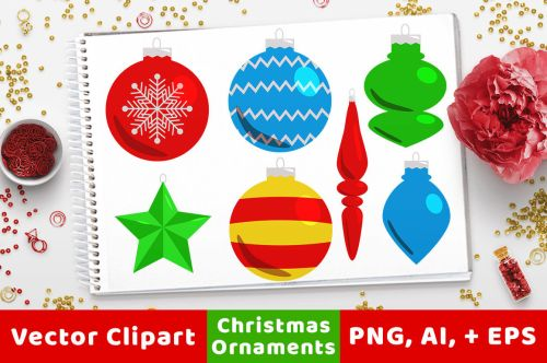 small resolution of 40 christmas ornaments clipart holiday clipart christmas card