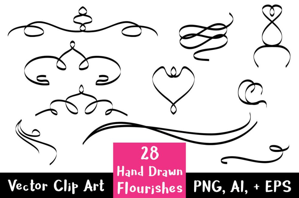 medium resolution of 28 hand drawn flourishes flourish clipart wedding clipart